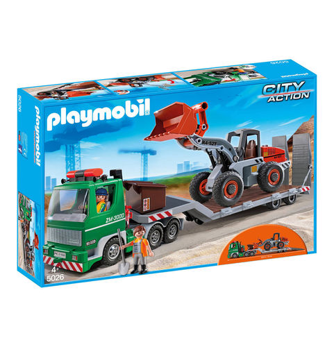 PLAYMOBIL® 5026 - City Action Tieflader mit Radlader